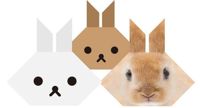 簡単!ウサギの折り紙の顔の折り方|How to fold a rabbit
