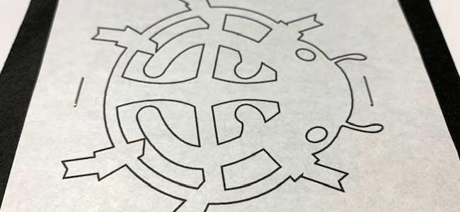 てんとう虫の切り絵・切り紙の作り方2