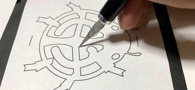 てんとう虫の切り絵・切り紙の作り方3