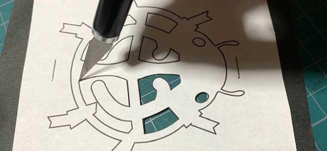 てんとう虫の切り絵・切り紙の作り方4