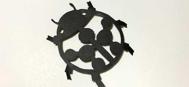 てんとう虫の切り絵・切り紙の作り方5