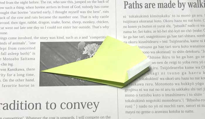バックホーンヒコーキの折り方.8